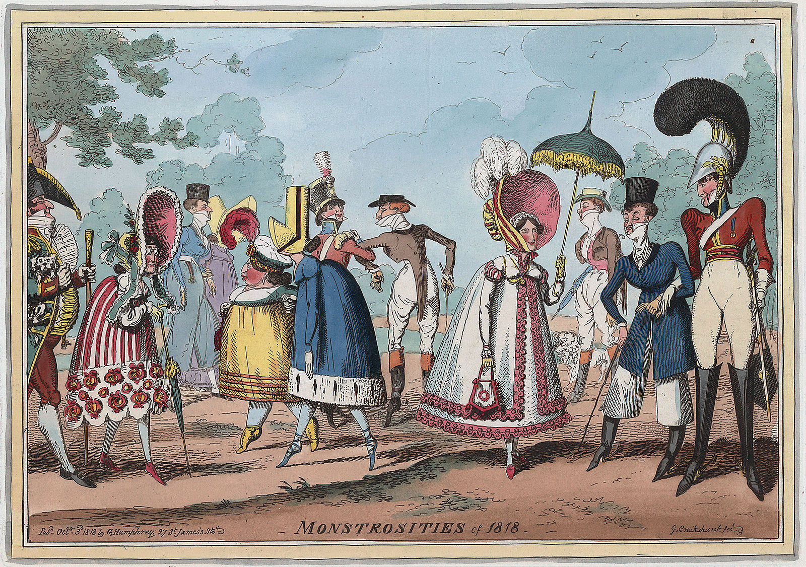 Reference Image 'Monstrosities of 1818, Cruikshank